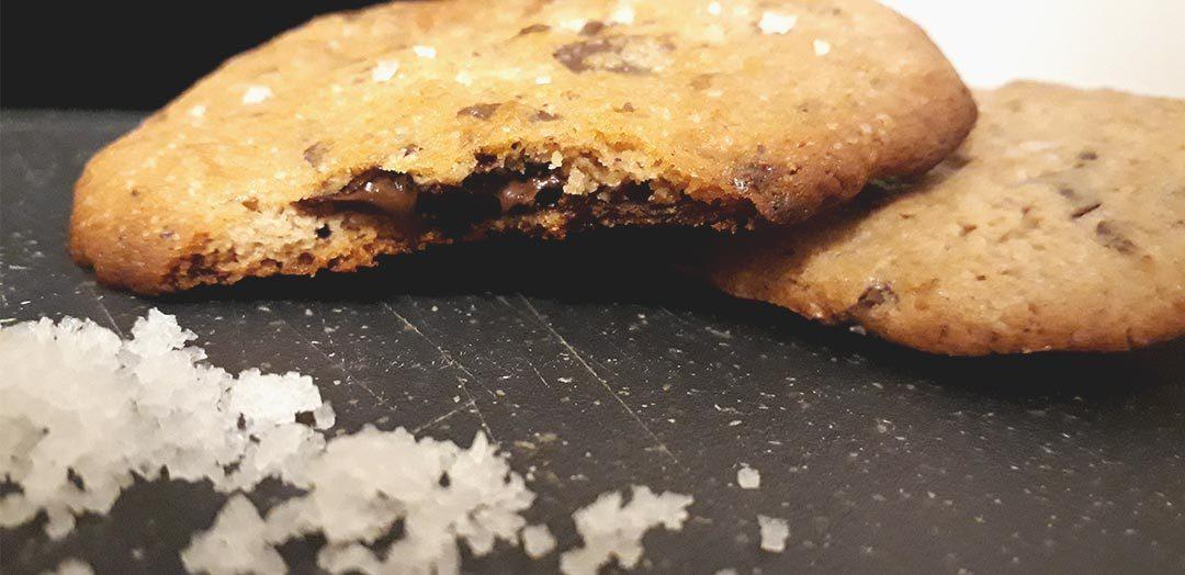 Cookies med karamel og havsalt